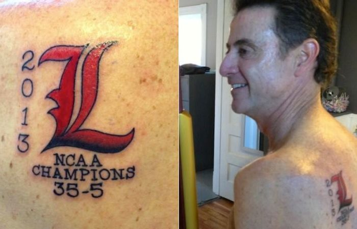 Louisville Loses Their Appeal To The NCAA And Rick Pitino Now Has The Worst Championship Tattoo Ever