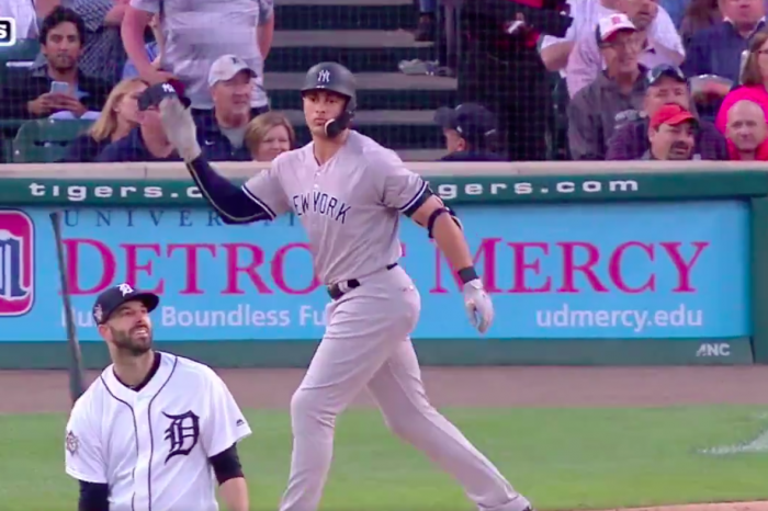 Giancarlo Stanton Owned Mike Fiers Last Night