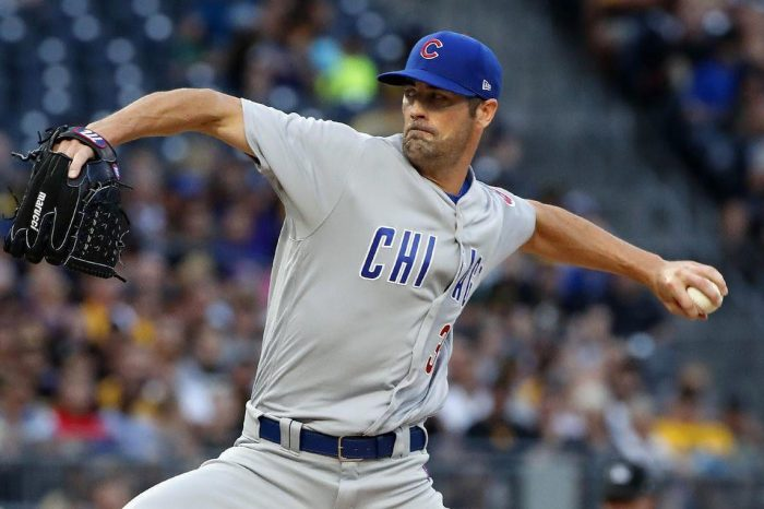 Cole Hamels Made His Debut With The Cubs Last Night